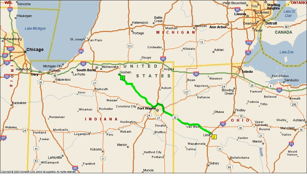 Roving Reports By Doug P 201327 Goshen Indiana To Lima Ohio