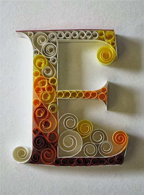 05-E-Quilling-Illustrator-Typographer-Calligrapher-Paper-Sculptor-Sabeena-Karnik-Mumbai-India-Sculptures-A-to-Z-www-designstack-co