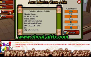 Cheat ATM Exp Ninja Saga Super Fast Fix 2013