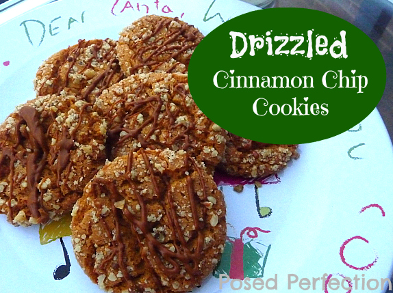 Drizzled Cinnamon Chip Cookies