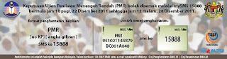 semak keputusan PMR 2011 SMS ONLINE