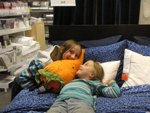 Ikea store bed