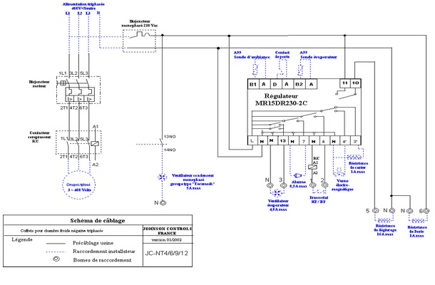 Schema frigorifique schema electrique - Schema electrique chambre froide ...