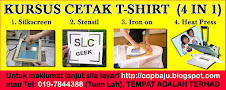 KURSUS CETAK T-SHIRT 4 IN 1