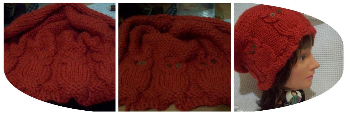 knit owl hats