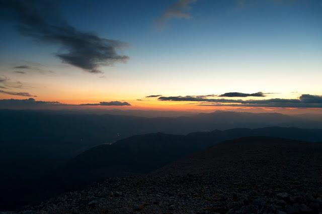 Tramonto dal Monte Amaro della Majella