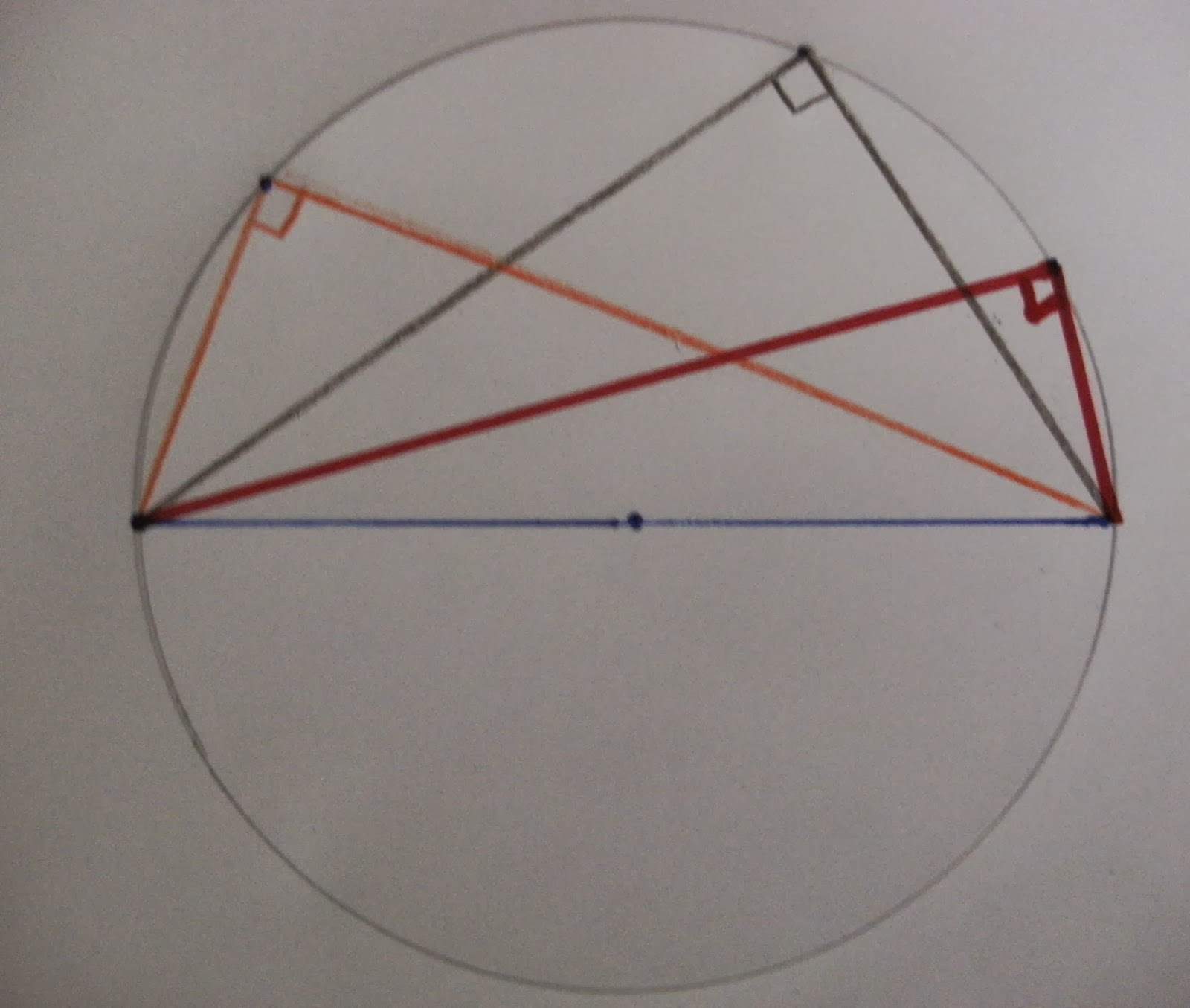 Right Angle Base : Thales vs pythagoras and the angle sum theorem part ii