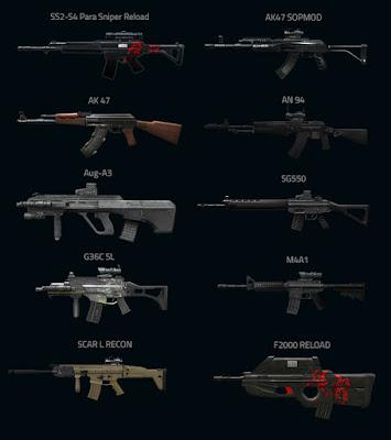Senjata PB Garena Terbaik Paling Mematikan