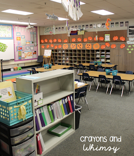 October classroom Crayons and whimsy kindergarten