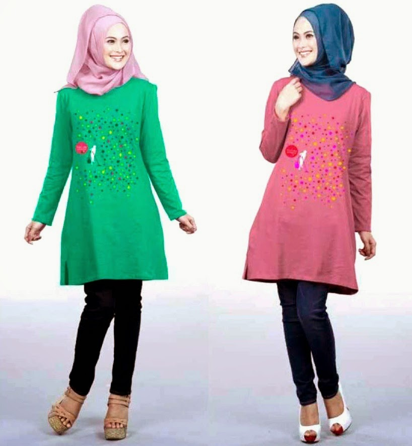 Model Terbaru Baju Muslim Fashion Style 2015 Trend Model