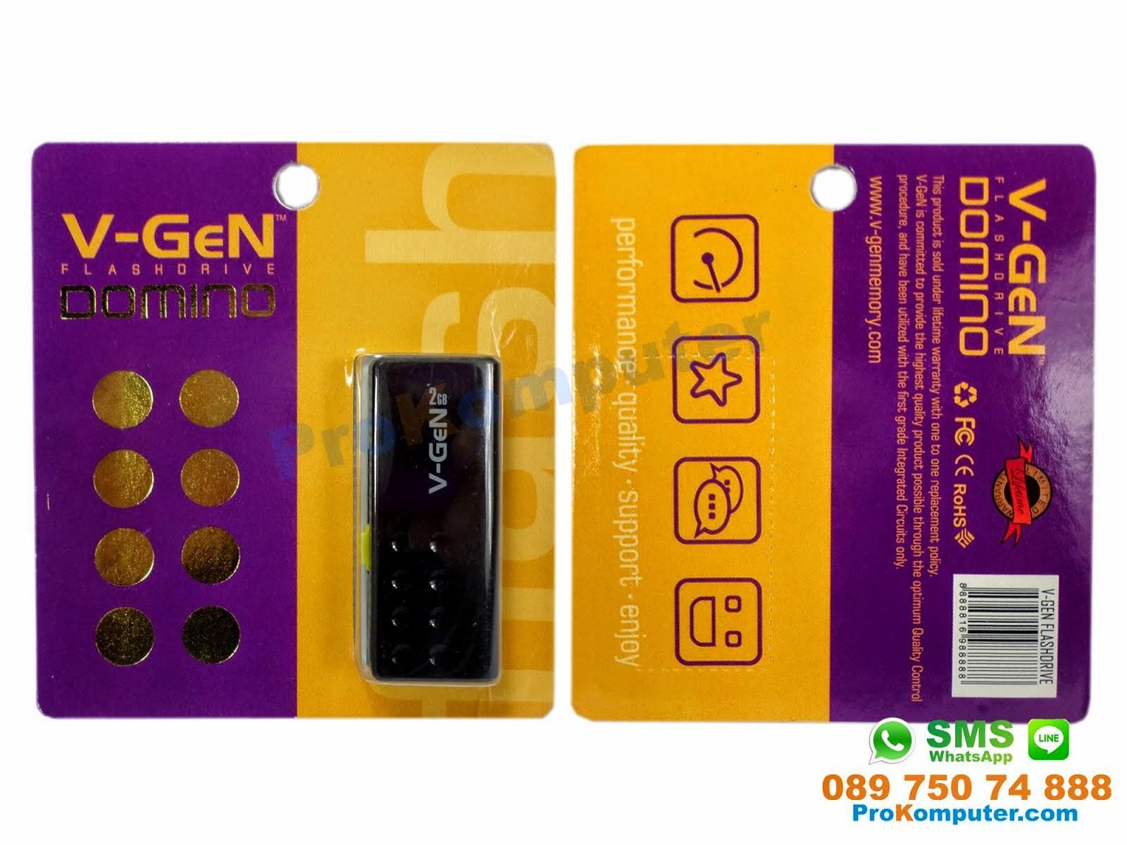 Prokomputer Flashdisk Vgen Usb Flash Drive Domino Black 2gb 2 Gb