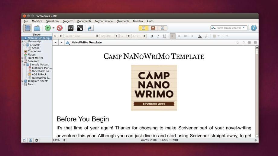 Scrivener in Ubuntu
