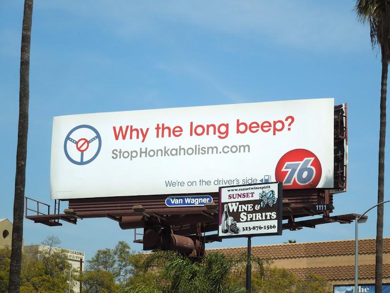Why the long beep 76 billboard