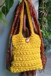 Bolsa Amarela em Ponto Estrela (Star Stitch)