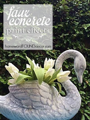 faux concrete paint tutorial