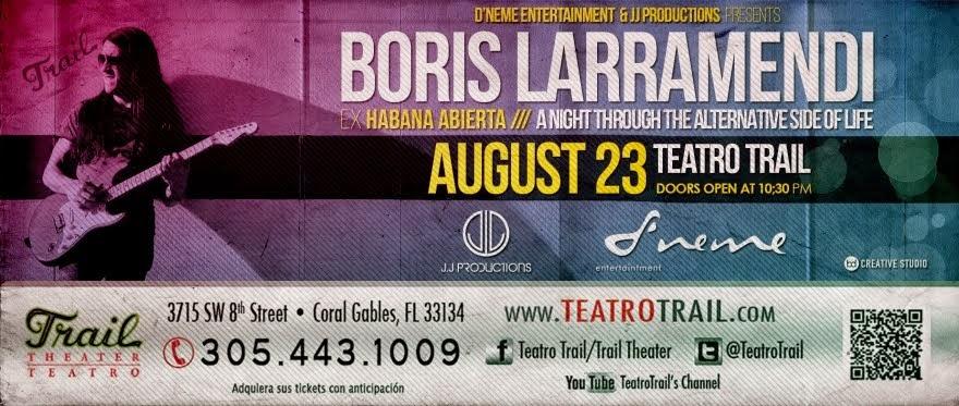 Teatro Trail: ¡Boris Larramendi en vivo!