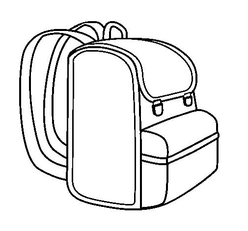 Desenhos e riscos de volta s aulas para pintar colorir - Clipart cartable ...