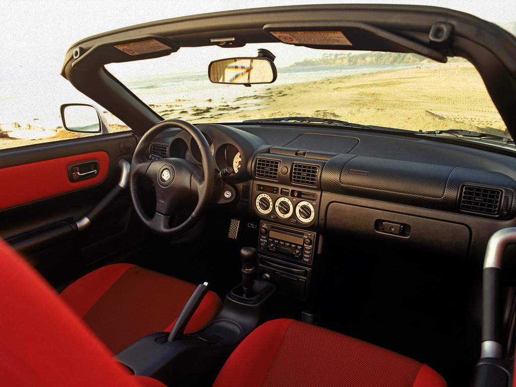 Toyota MR2 Roadster, MK3, schowek, wnętrze, miejsce, za kierownicą, w środku