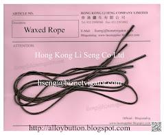 Waxed Rope Manufacturer And Supplier - Hong Kong Li Seng Co Ltd