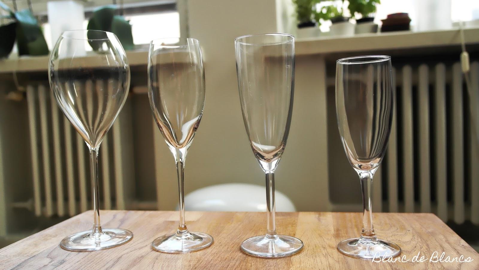 Erilaisia samppanjalaseja - www.blancdeblancs.fi