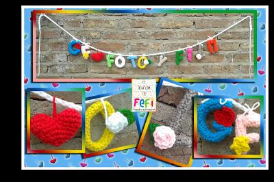 letras amigurumis al crochet