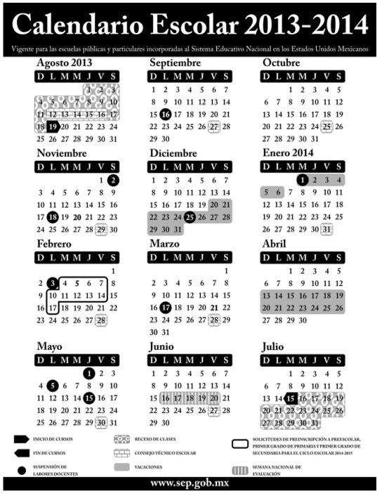 Calendario Sep 2014 2015