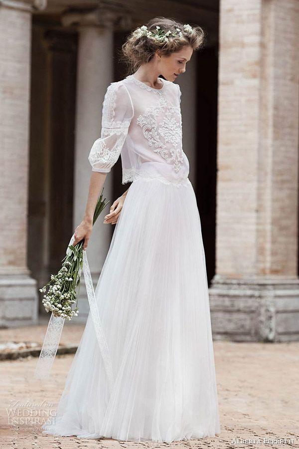 Vestidos de boda de dos piezas