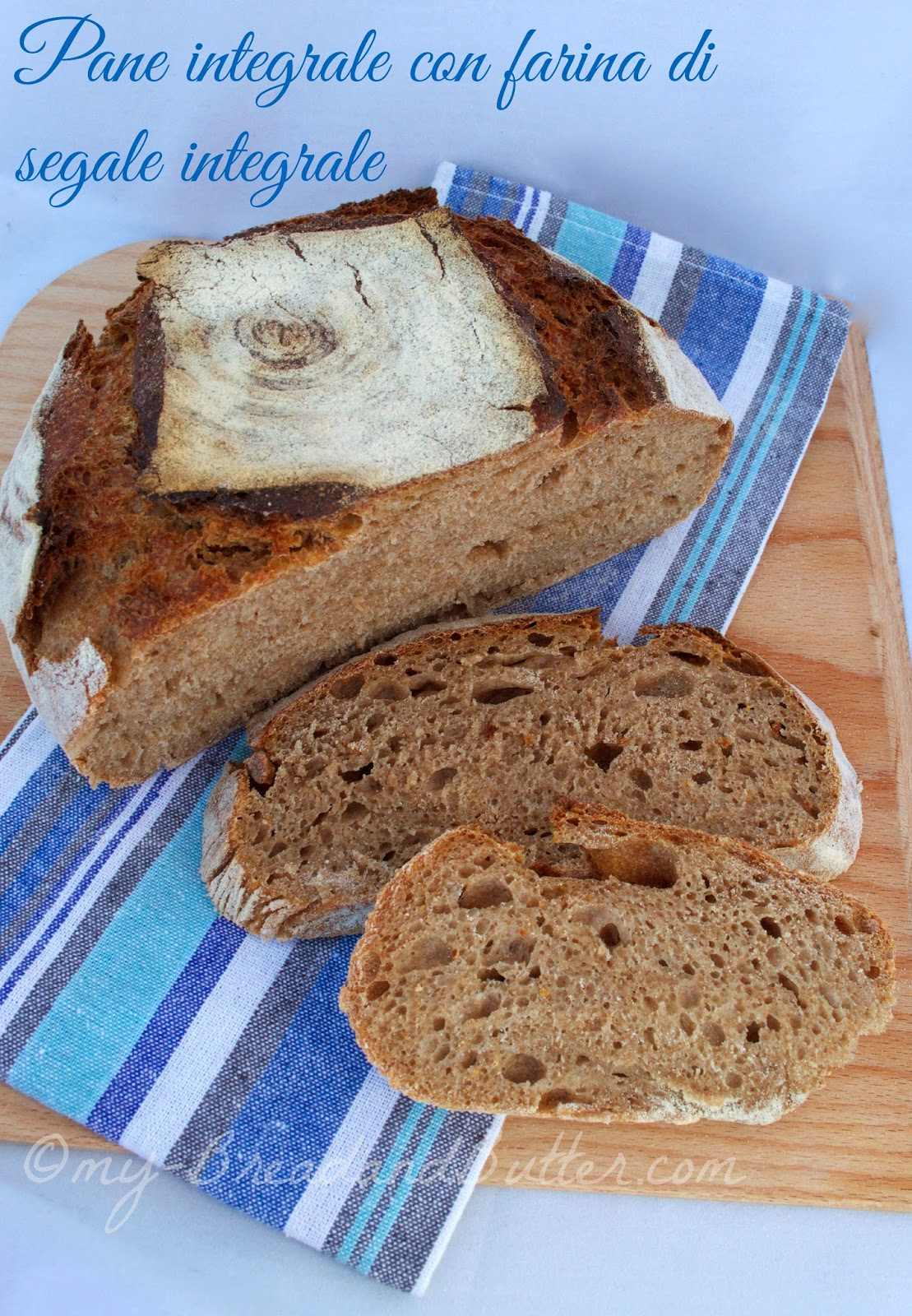 pane di segale integrale a lievitazione naturale