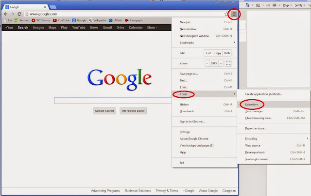how to look at extensions chrome