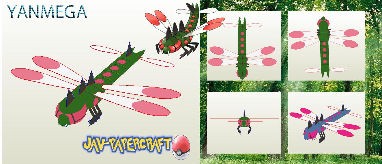 Pokemon Yanmega Papercraft