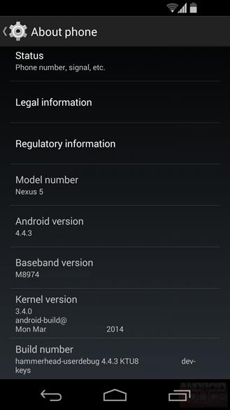 android 4.4.3 güncelleme listesi