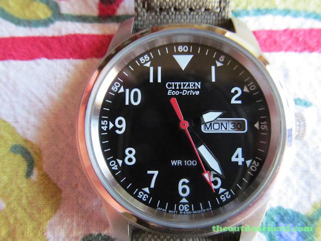 Citizen BM8180-03E Men's Eco-Drive Watch: Closeup Of Dial