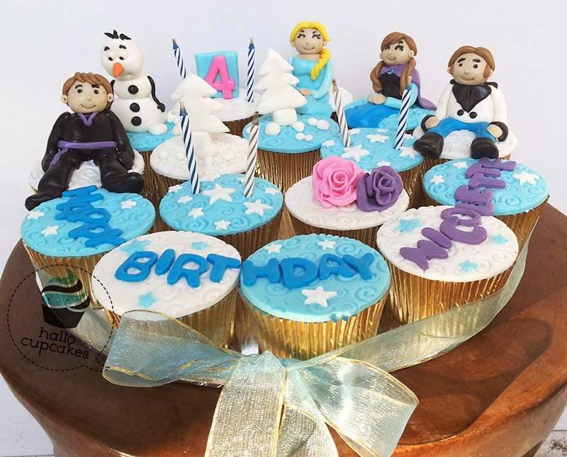 frozen elsa  theme cupcake