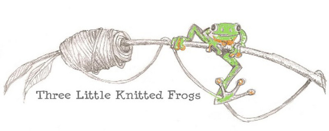 Three Little Knitted Frogs