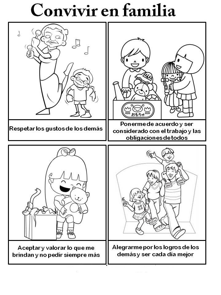 Puntadas familiares: Dibujos de convivir en familia