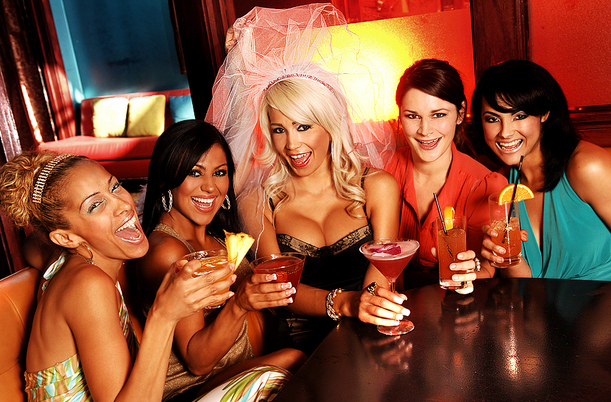 Bevy, Group of women, Girls, Ladies, Party, Drinking, Club, Bar