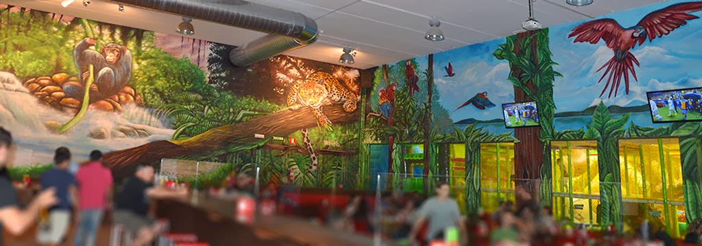 decoracion de stand de la selva