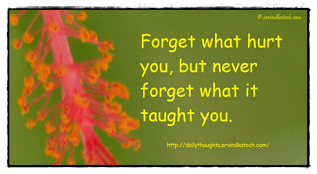 Daily Thought, Quote, Forget, Hurt,