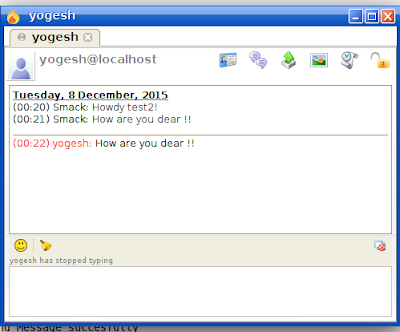 How to chat in xmpp server