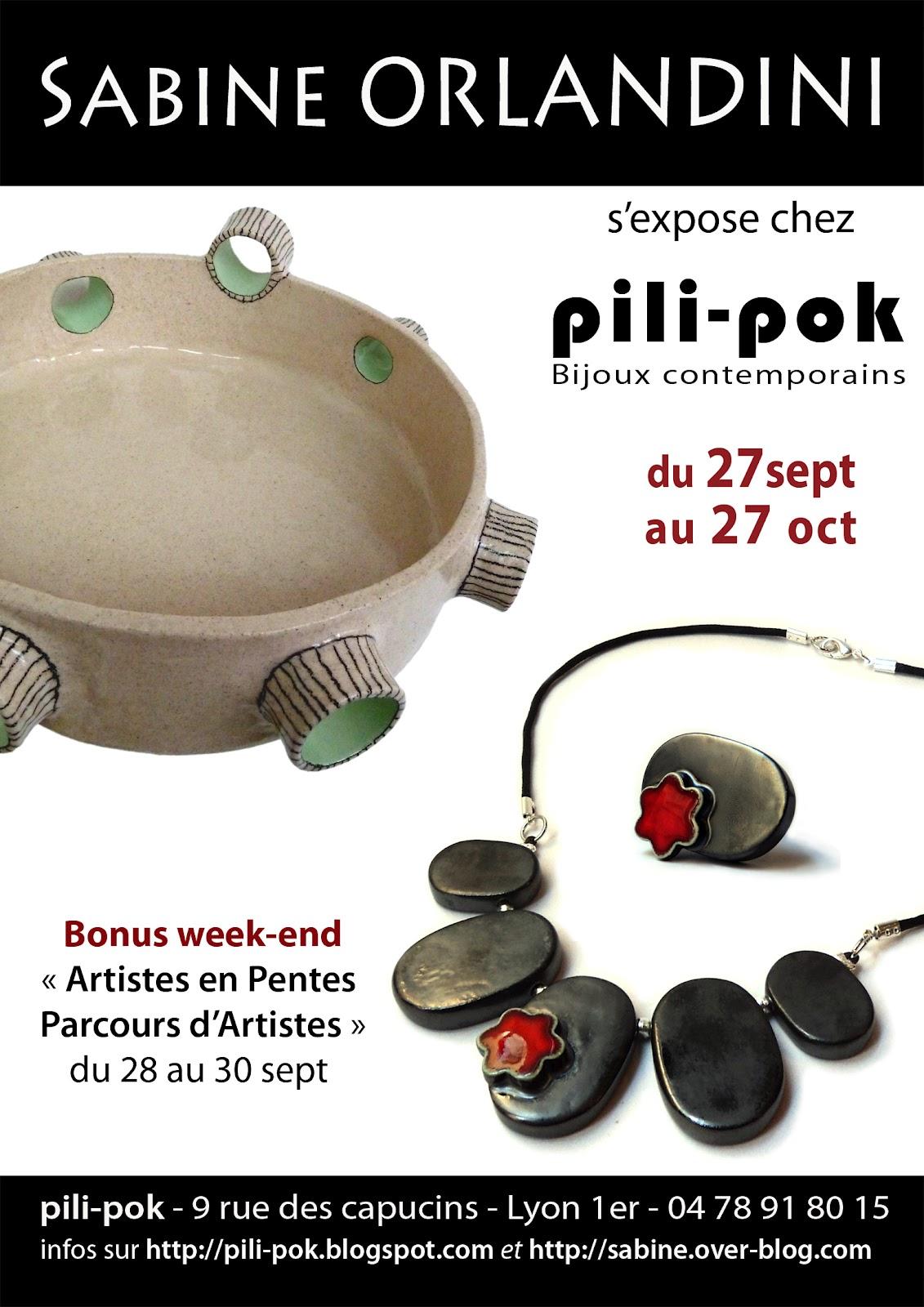 pili pok bijoux contemporains de cr ateur en c ramique lyon septembre 2012. Black Bedroom Furniture Sets. Home Design Ideas