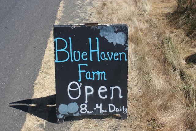 Blue Haven Farm chalk sign