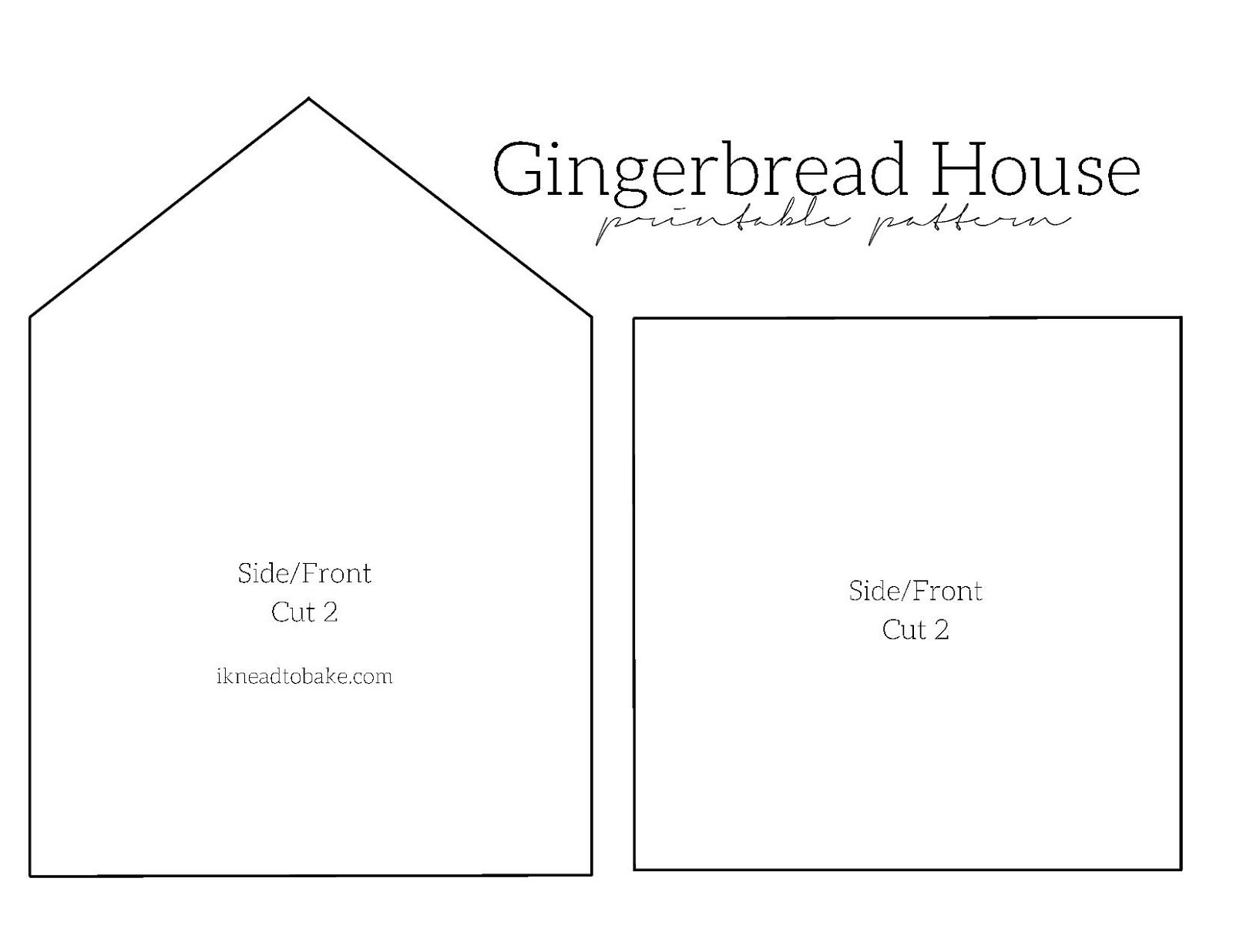 This is a photo of Clean Gingerbread House Templates Printable