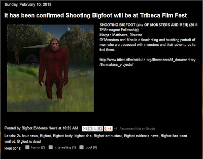 Shooting Bigfoot Tribeca Film Festival