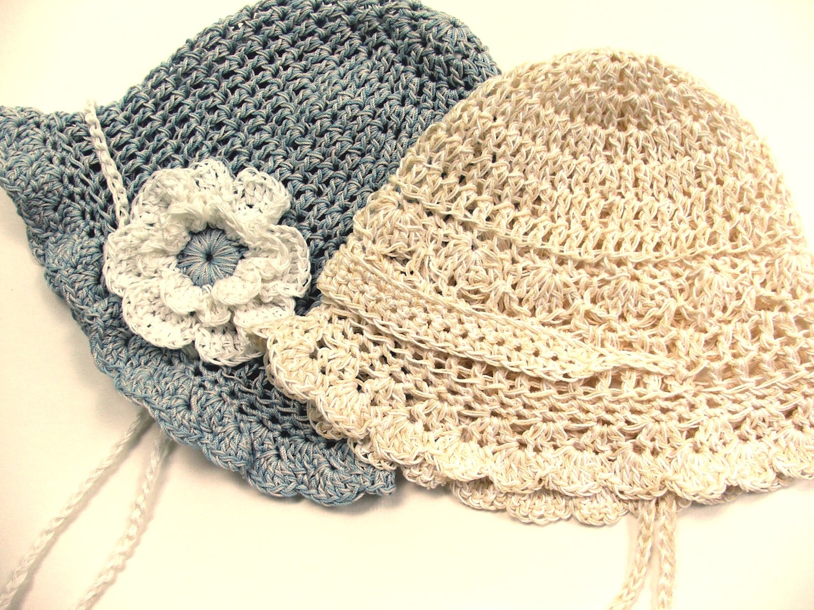 Easy Summer Crochet Hat Patterns : Susans Hippie Crochet: Designing a Summer Baby Hat