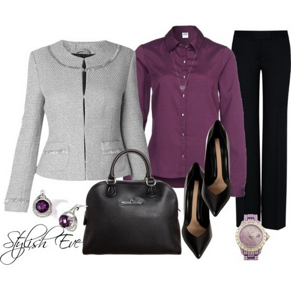 purple winter outfits for girls by stylechoice stylechoice