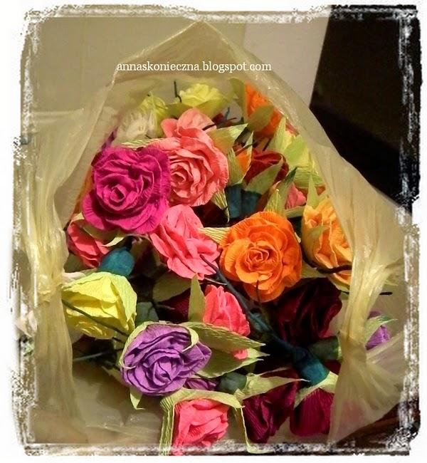 krepa włoska, róże