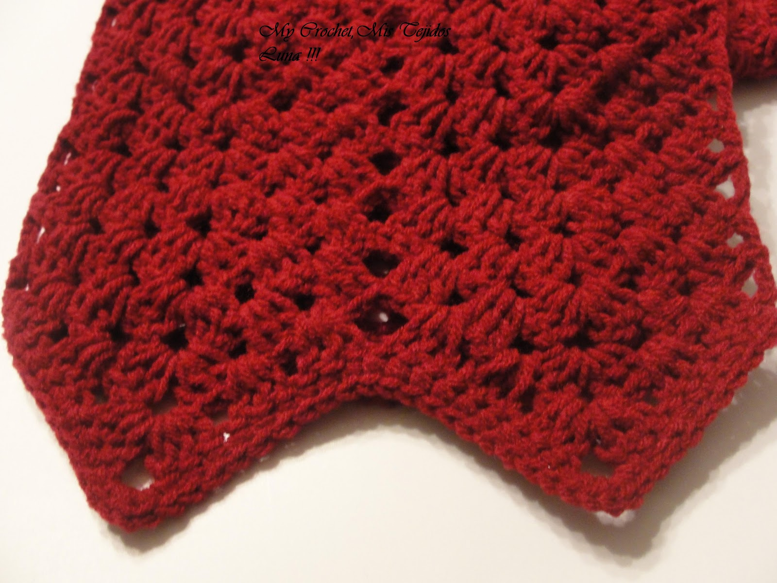 Crochet Stitches Granny Ripple : My Crochet , Mis Tejidos by Luna: Ripple Granny Scarf is Done ...