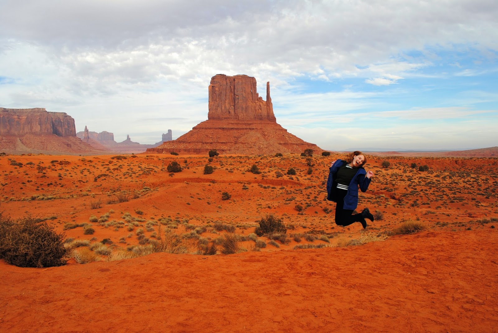 Visiting Monument Valley in Winter with Topdeck Travel Coast to Coast tour