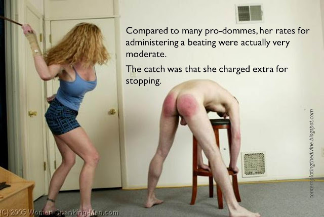 Femdom endless caning
