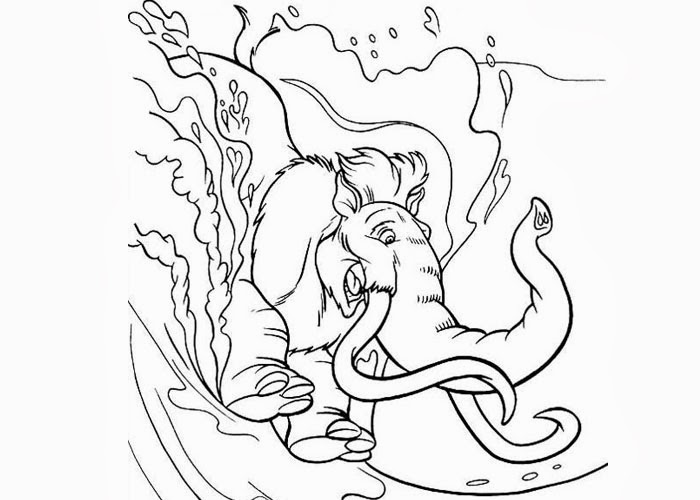 Manny Ice Age coloring pages | Free Coloring Pages and Coloring ...
